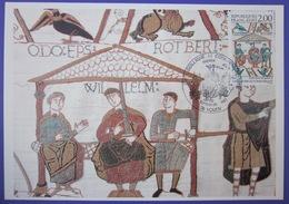 Carte Postale Maximum - FDC - Tapisserie Bayeux - Guillaume Le Conquérant - 1987 - YT 2492 - Rouen - 1980-89