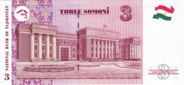 TAJIKISTAN 3 Somoni 2010 P-20 **UNC** - Tajikistan
