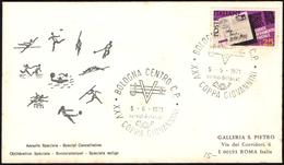 FENCING - ITALIA BOLOGNA 1971 - COPPA GIOVANNINI DI SCHERMA - BUSTA VIAGGIATA - BOLLO ARRIVO: RISPARMIO POSTALE - Scherma