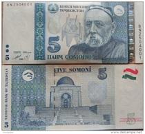 TAJIKISTAN 5 Somoni Modification (2013) 1999 P-New **UNC** - Tadzjikistan