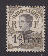 Indo-China, Scott #65, Mint Hinged, Woman Of Indo-China Surcharged, Issued 1919 - Indocina (1889-1945)