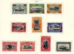 1921  Mols Surchargé,  85 / 94*, Cote 32 €, - Belgisch-Kongo