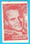 HARRY BELAFONTE - Usa Film Actor & Singer ***  Yugoslavian Vintage Trading Card Issued 1960's  RRR - Cinema & TV