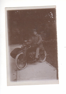(n°764  ) Photo  Originale ALLEMAGNE  SCHLENGENBAD Moto Side-car 1924 - Autres