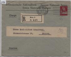 1924 Schweizerische Nationalbank Tellkopf 25c Charge Von Bern Nach Zürich 29.XI.24 - Ganzsachen