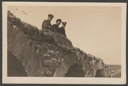 Old Sepia Photograph, Soldiers On The Bridge At Adrianople, Edirne, Turkey, C.1920s - War, Military