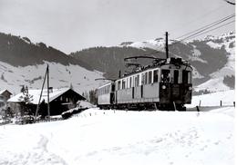 Près De Château-d'Oex Arrivée De Montreux 28.2.65  Train  M.O.B. BVA - Stations - Met Treinen
