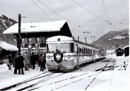 Rame Du 75e Anniversaire à La Lenk 12.12.1976 Train M.O.B. BVA - Stations - Met Treinen