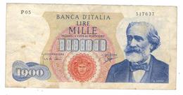Italy 1000 Lire, 1962, Verdi. F/VF, Crisp Note! - [ 2] 1946-… : République