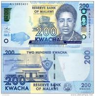MALAWI 2016 200 Kwacha P 60 UNC - Malawi
