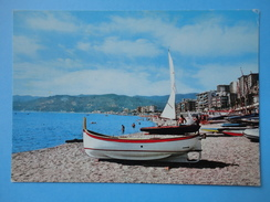 Spotorno Est - Savona - Panorama - Spiaggia E Stabilimenti Balneari Con Barche - Savona