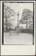Old Repro Photograph, Godfrey Sykes Memorial, Weston Park, Sheffield, Yorkshire, C.1900s - Reproductions