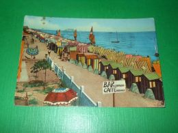 Cartolina Bellaria - Spiaggia 1956 - Rimini