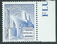 Italia, Italy 1983; 1° Maggio Festa Dei Lavoratori. Francobollo Di Bordo Destro. Nuovo. - Celebrations