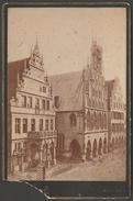 Cabinet Card, Rathaus, Prinzipalmarkt, Münster, Deutschland, C.1880 - Places