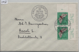 1953 FCD J149/589 Ausgabetag 2x Paar Eckstück Von Bern Nach Basel 1.XII.53 - Pro Juventute