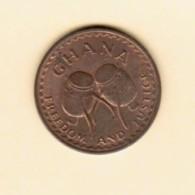 GHANA  1/2 PESEWA 1967 (KM # 12) - Ghana