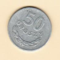 POLAND  50 GROSZY 1973 (Y # 48.1) - Polen