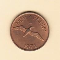 GUERNSEY  1 NEW PENNY 1971 (KM # 21) - Guernsey