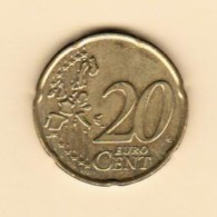 SPAIN  20 EURO CENTS 2000 (KM # 1044) - España