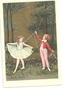 CPA Illustration De Colombo Couple Enfants Danseurs, Tutu ,guirlande De Fleurs - Colombo, E.