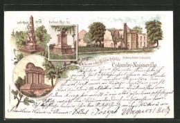 Lithographie Colomby-Noisseville, Château-Ruine, Regiments-Denkmäler - Non Classés