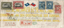 CTN48C - CHINE LETTRE AVION RECOMMANDEE SHANGHAI / PARIS JUIN 1931 VIA MANCHULI / IRKUSK / BERLIN TTB - Chine