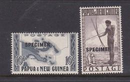 Papua New Guinea SG 14-15 1952 Pictorials .Overprinted SPECIMEN Mint Hinged - Papua New Guinea