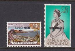 Papua New Guinea SG 44-45 1963 Definitives Overprinted SPECIMEN, Mint Hinged - Papua New Guinea