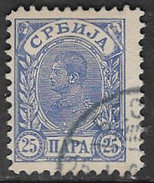 Serbia SG80B 1900 Definitive 25p Good/fine Used [34/29019/5D] - Serbia