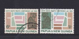 Papua New Guinea SG 77-78 1965 6th South Pacific Conference  Used - Papua New Guinea