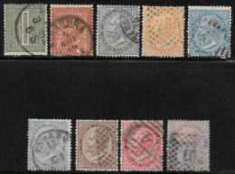 Italy, Scott # 24-32 Used King Victor Emmanuel, 1863-77, Better Than Average - Used