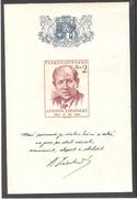 CZECHOSLOVAKIA 1954 President Antonin Zapotocky, Scott No(s). 678 MNH Souvenir Sheet - Czechoslovakia