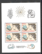 CZECHOSLOVAKIA 1985 Helsinki Conference On European Security And Cooperation, Scott No(s).2567a MNH Souvenir Sheet - Unused Stamps