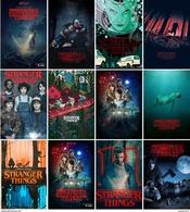 12 Postcards Of Stranger Things TV SERIES Moive Film Poster , Postkarte Carte Postale - Séries TV