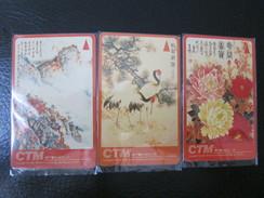 GPT Magnetic Phonecard,6MACA,B,C Chinese Painting,set Of 3,used - Macau
