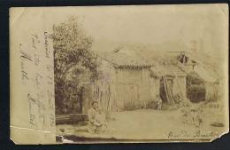 ROSIERES - 70-  CARTE PHOTO Femme Et Enfant - Rue De Beauté -voyagée 1904-Recto Verso-Paypal Sans Frais - Francia