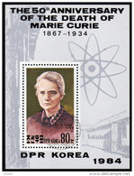 KOREA Nord 1984 - Marie Curie / Nobelpreis Chemie & Physik - Block 188 - Chemie