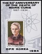 Nord KOREA 1984 - Marie Curie / Nobelpreisträgerin Physik & Chemie - Block 188 - Physik