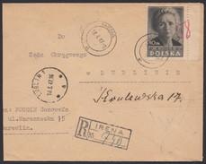POLEN1947 - Marie Curie / Nobelpreisträgerin Physik & Chemie - Reko Brief - Physik