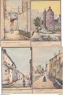 Huy - Lot De 5 Cartes Pittoresque, Léon Tombu (colorisée, Animée) - Huy