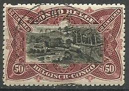 Belgian Congo - 1915 Railway Bridge 50c CTO   Sc 53 - Belgian Congo