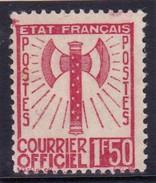 France Timbres De Service Francisque YT8 NSG Signé Calves - Officials