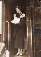 Paris Princesse Marina De Grece A La Gare Du Nord Duchess Of Kent Ancienne Photo 1934 - Famous People