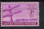 199950257 USA 1944 POSTFRIS MINT NEVER HINGED POSTFRISCH EINWANDFREI SCOTT 924 Telegraph Issue - Verenigde Staten