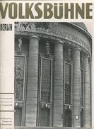 Volksbühne Theater Am Horst Wesselplatz Berlin - Sonderausgabe Der Zeitschrift Das Theater 1937/38 - 16 Seiten Mit 35 Ab - Theater & Scripts