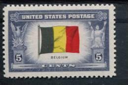 200889020 USA POSTFRIS MINT NEVER HINGED POSTFRISCH EINWANDFREI SCOTT 914 OVERRUN COUNTRIES FLAG BELGIUM - Ongebruikt