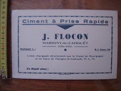 BUVARD Ciment A Prise Rapide FLOCON Marigny Le Cahouet Cote D'Or 21 - Buvards, Protège-cahiers Illustrés