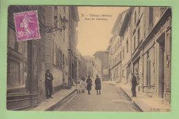 THIZY : Rue Du Château . 2 Scans. Edition B F - Thizy