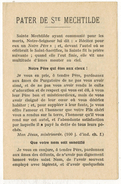 "IMAGE PIEUSE HOLY CARD SANTINI  2 Volets : "" Pater De Ste MECHTILDE "" Notre Dame De LERINS Nice - Andachtsbilder"